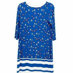 NWT Leota AHOY Sailboat Nautical Dress